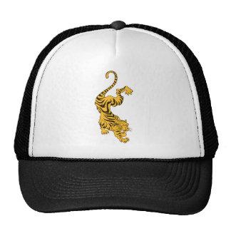 Orange Tiger Mesh Hats