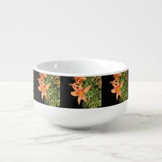 Orange Tiger Lilies Soup Mug
