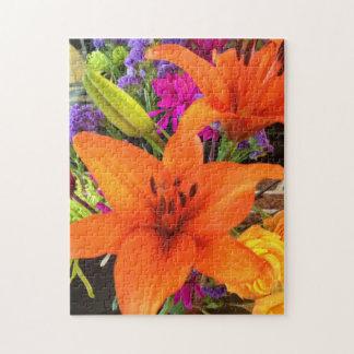 Orange Tiger Lily Puzzle