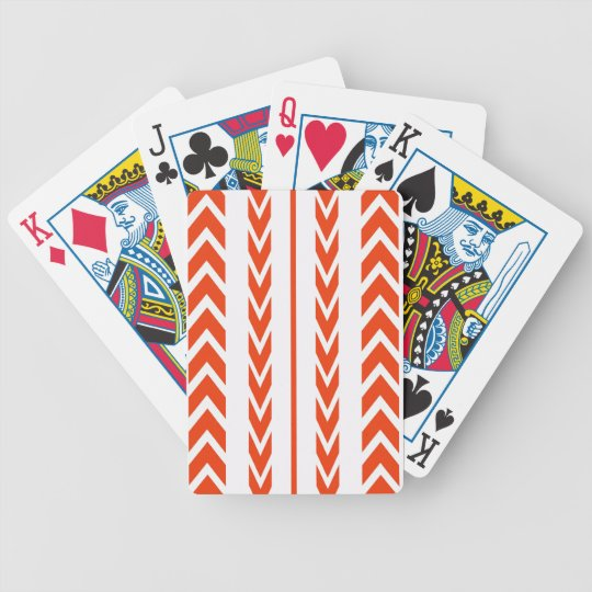 Orange Tire Tread Bicycle Playing Cards