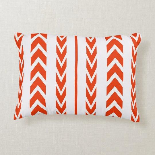 Orange Tire Tread Decorative Cushion
