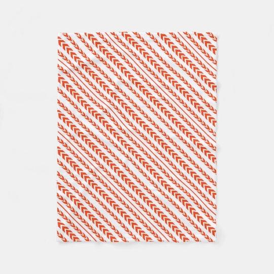Orange Tire Tread Fleece Blanket