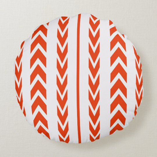 Orange Tire Tread Round Cushion