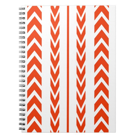 Orange Tire Tread Spiral Notebook
