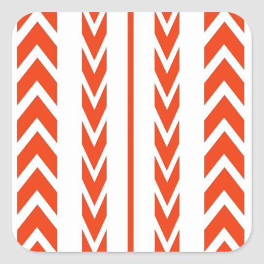 Orange Tire Tread Square Sticker