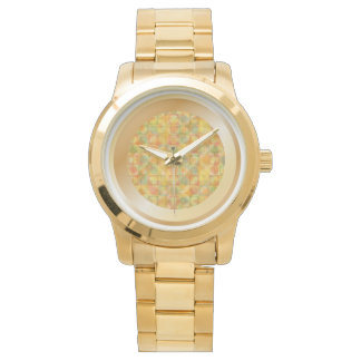 Orange Tissue Paper Collage Watch