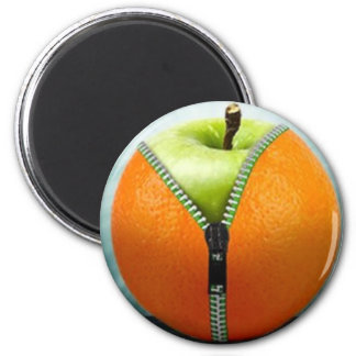 Orange to Apple 6 Cm Round Magnet