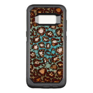 Orange Toasted Turquoise Blue Cheetah OtterBox Commuter Samsung Galaxy S8 Case