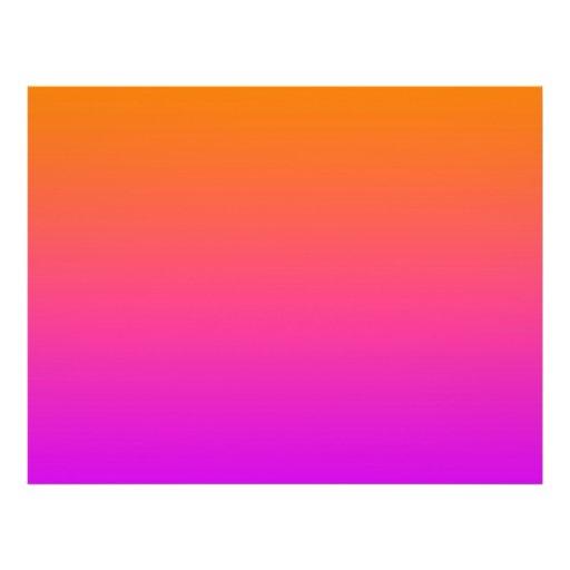 orange top purple bottom gradient DIY background Custom Flyer