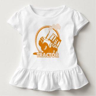 Orange Tractor Farm Machinery Tee Shirt