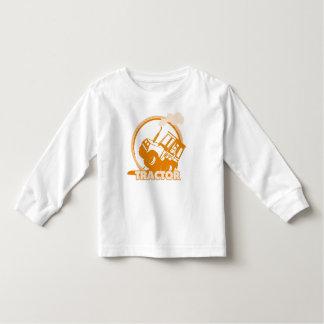 Orange Tractor Farm Machinery Toddler T-Shirt