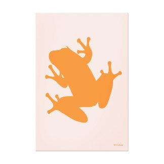 Orange Tree Frog Gallery Wrap Canvas Canvas Print
