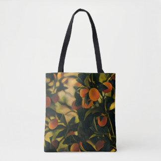 Orange Tree Funky Tote Bag