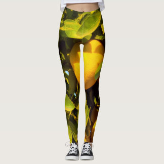 orange tree leggings