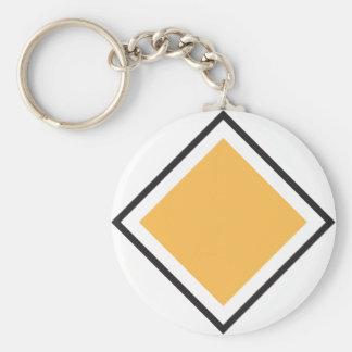 Orange Triangle Keychain