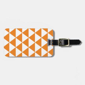 Orange Triangle Pattern Luggage Tag