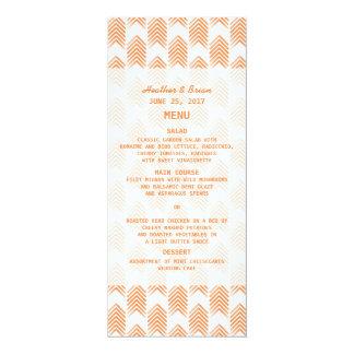 Orange Tribal Arrows Wedding Menu 4x9.25 Paper Invitation Card
