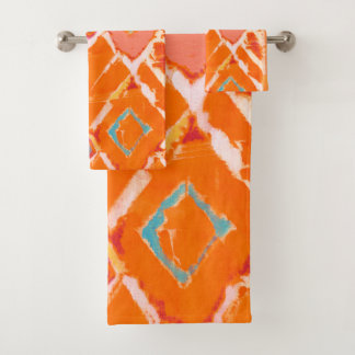 Orange Tribal II Bath Towel Set