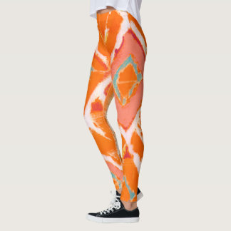 Orange Tribal II Leggings