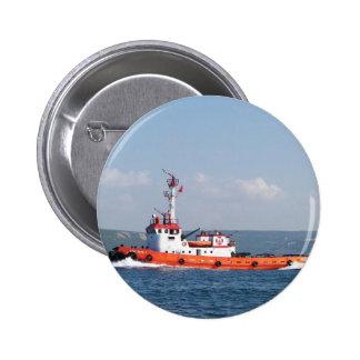Orange Tug Boat Buttons