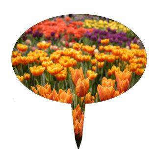 Orange Tulip Cake Topper