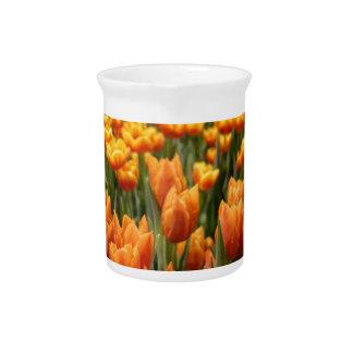 Orange Tulip Drink Pitcher