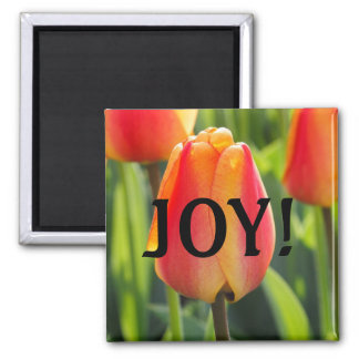 Orange Tulip Joy Magnet