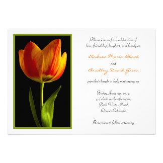 Orange Tulip Wedding Invitation
