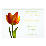 Orange Tulip Wedding Invitation 13 Cm X 18 Cm Invitation Card