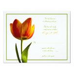 Orange Tulip Wedding Reply Card 11 Cm X 14 Cm Invitation Card