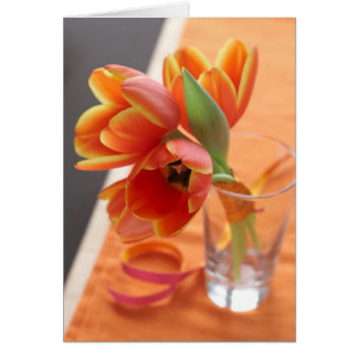 Orange Tulips Card