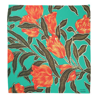 """Orange Tulips"" Jade Bandana"