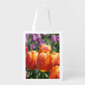 Orange Tulips Reusable Tote Bag