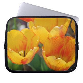 orange tulips sleeve laptop computer sleeve