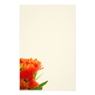 Orange Tulips Stationary Custom Stationery
