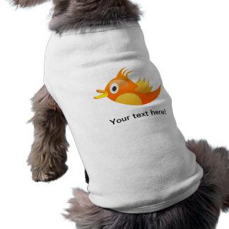 Orange tweet bird dog shirt