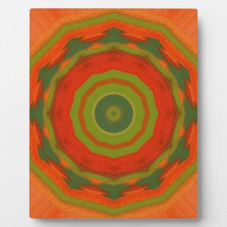 Orange Twirl Plaque