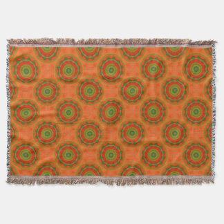 Orange Twirl Throw Blanket