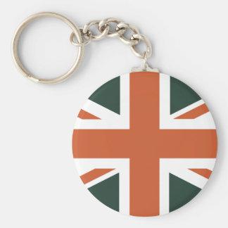 Orange Union Jack British(UK) Flag Key Chains
