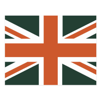 Orange Union Jack British(UK) Flag Postcard