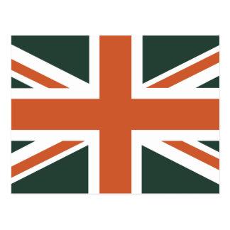 Orange Union Jack British(UK) Flag Postcard
