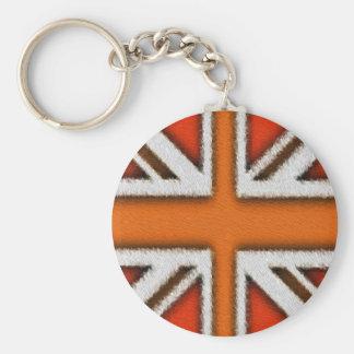 Orange Union Jack Key Ring