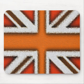 Orange Union Jack Mouse Pad