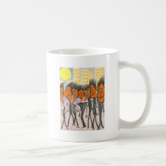 Orange Urbanites with Triangle Heads Basic White Mug