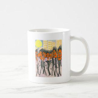 Orange Urbanites with Triangle Heads Mugs