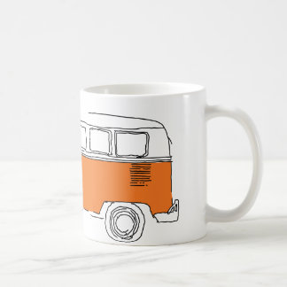 ORANGE VAN / Bus Coffee Mug