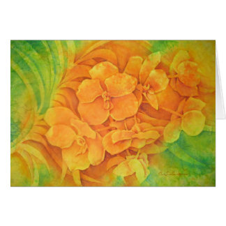 Orange Vanda Card