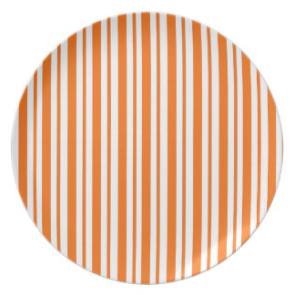 Orange Vertical Pinstripe Plate