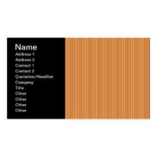 Orange Vertical Stripes Pattern Business Card Templates