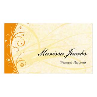 Orange Vibrant Personal Assistant Business Card